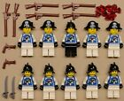 x10 NEW Lego Pirate Minifigs Imperial Armada Soldiers BLUE w/ RIFFLE GUNS