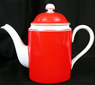 Fitz & Floyd RONDELET ROUGE Red COFFEE~CHOCOLATE POT w/LID 8 1/2