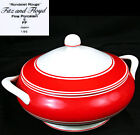 Fitz & Floyd RONDELET ROUGE Red ROUND COVERED SERVING Dish 8.5