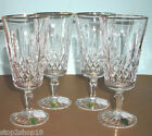 Waterford Lismore Tall Gold Iced Beverage SET OF 4 Crystal Glasses NEW!