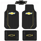 New Chevy Elite Series Logo Car Truck Front Back Rubber Floor Mats Chrome Emblem
