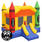 Commercial Grade 17 x 13 Bounce House 100 PVC Crayon Jumper Inflatable Only