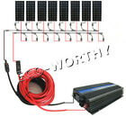 1200Watt Complete Kit  8pcs 160W Mono Solar Panel Power System for Home RV Boat