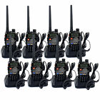8Pcs Retevis Walkie Talkie UHF+VHF 128CH 5W FM Radio Monitor Two Way Radio