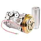 PREMIUM QUALITY NEW AC COMPRESSOR  CLUTCH WITH A C DRIER FOR CHEVY GEO SUZUKI