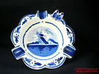 Delft Ash Tray Wooden Shoes Windmill Holland Perfect Cobalt Blue White
