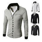 Fashion Mens Winter Casual Pocket Jacket Coat Outwear Overcoat Warm Collar Tops