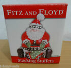 Fitz & Floyd Stocking Stuffers Santa Claus Lidded Box NEW 53/110