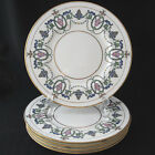 Vintage Minton H2581 Dinner Plate Pink Flowers Blue and Green Leaves SIX