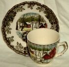 Johnson Bros Demitasse Cup and Saucer Friendly Village Ice House England