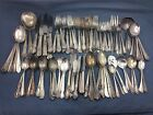Vintage SILVERPLATE FLATWARE Mixed Craft Lot Jewelry Use SILVER PLATE 100 Pieces
