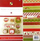 Merry Memories Printed Cardstock 12 x 12 DCWV 48 Sheets 24 Designs Red Green