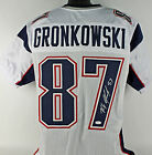 Patriots Rob Gronkowski Authentic Signed White Jersey Autographed JSA Witness