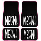 Uaa Cat Lover Cute Friendly Pet Girly Universal Seatcover Carpet Mat Combo Set