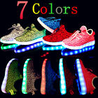 New Boys Girls USB Luminous Led Light Up Shoes Kids Breathable Sneakers shoes