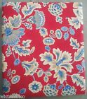 Hallmark Large 3-Ring Photo Album Scrapbook Red Fabric w/Flowers  with Refill Ch