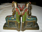 ANTIQUE ART DECO EYGYPTIAN REVIVAL ARMOR BRONZE CLAD STATUE SCULPTURE BOOKENDS