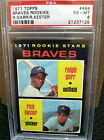 1971 Topps # 494 Braves Rookies PSA GRADED EX MT 6