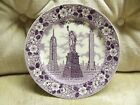 MULBERRY STAFFORDSHIRE WARE NEW YORK CITY SOUVENIR PLATE MADE IN ENGLAND