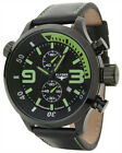 New Mens Elysee 81004 Competition Edition Chronograph Military Green Black Watch