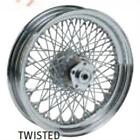 Ultima 16x3 Twisted 80 Spoke Chrome Front Wheel for Harley 86-99 Softail