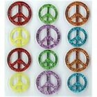Jolees Dimensional Scrapbooking Stickers PEACE SIGNS CABOCHONS 12 Pieces