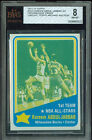 1972-73 TOPPS # 163 KAREEM ABDUL JABBAR PROOF BGS 8 SOLO FINEST GRADED UNIQUE