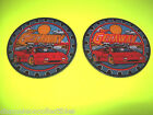 THE GETAWAY By WILLIAMS 1992 ORIGINAL NOS PINBALL MACHINE COASTERS 2 DIFFERENT