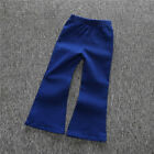 Fashion Girls Jeans Vintage Kids Baby bell bottoms Trousers Wide leg Pants