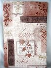 Assorted Sizes Love Believe Dream Scrapbook Patchwork Vinyl Tablecloth FREE SHIP