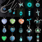HOT Glowing Steampunk Magic Fairy Charm Locket Glow In The Dark Pendant Necklace