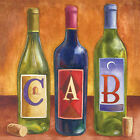 Portfolio Canvas Decor Geoff Allen 'Bottles Cabernet' 16x16 Framed Canvas Wall A
