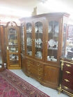 57090 Nathan Hale Solid Oak China cabinet Curio Breakfront