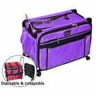 Tutto Purple 24 Inch Sewing Embroidery Machine Trolley Case On Wheels New