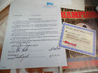 Darren Daulton 1992 signed autograph TOPPS Trading Card Co Vault CONTRACT auto