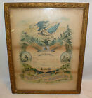 Vtg Antique 1902 Foresters of America Certificate in Nice Frame Wall Art Picture