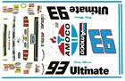 #93 Amoco 2013 Mustang 1/64th HO Scale Slot Car Waterslide Decals