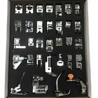 32 Low Shank Presser Feet Kit For Home Sewing Machines Fits All Low Shank