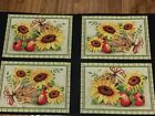 Sunshine Orchard Sunflowers cotton Placemat or Pillow Fabric Panel sewing craft