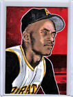 2016 Roberto Clemente Pirates Baseball 1 1 ACEO Orange Outline Sketch Card By:Q