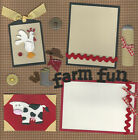 FARM FUN 2 PAGE premade scrapbook layout by SASSY