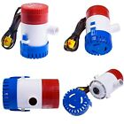 12V 2.0A 500 GPH Electric Bilge Pump Marine Boat Yacht Submersible 3/4