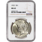 1922 US Peace Silver Dollar 1 NGC MS63