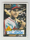 2001 TEAM TOPPS LEGENDS ENOS SLAUGHTER 1952 ON CARD AUTO AUTOGRAPH CARD #TT36R