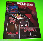 THE GETAWAY By WILLIAMS 1992 ORIGINAL NOS PINBALL MACHINE SALES FLYER