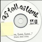 AS TALL AS LIONS Love EDIT TST PRESS PROMO DJ CD Single