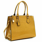 New Women Handbag Embossed Faux Croco Leather Satchel Tote Bag Chain Strap Purs