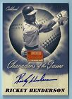 RICKEY HENDERSON 2013 PANINI AMERICA'S PASTIME CHARACTERS OF THE GAME AUTO 5