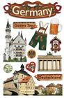 PAPER HOUSE GERMANY TRAVEL VACATION DIMENSIONAL 3D SCRAPBOOK STICKERS