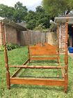 Ethan Allen Vintage Full Size Heirloom Tall Maple 4-poster Bed